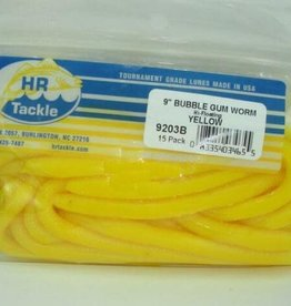 HR Tackle HR Tackle 9'' Bubble Gum Worm-yellow