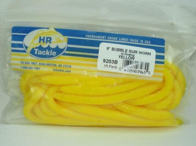 HR Tackle 9/'/' Bubble Gum Worm Lures