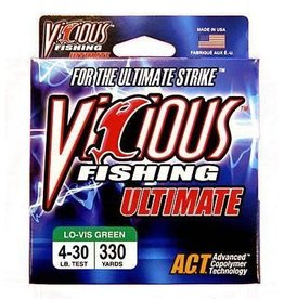 Vicious Vicious Ultimate Lo-Vis Green Fishing Line 4 lb 330 Yards