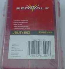 Redwolf Red Wolf  Utility Box Double Sided W/Strap