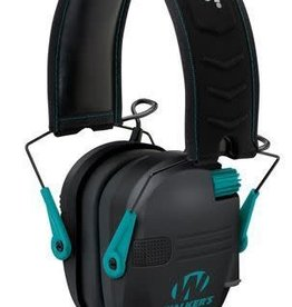 Walker's Walkers Game Ear GWPRSEMTL Razor Slim Shooter Folding Earmuff 23 dB Teal/Black