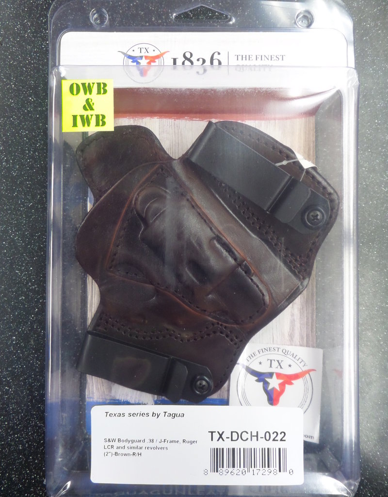 TAGUA GUNLEATHER Tagua Gunleather TX 1836 Cannon Owp Holster Right Hand  Brown TX-DCH-022