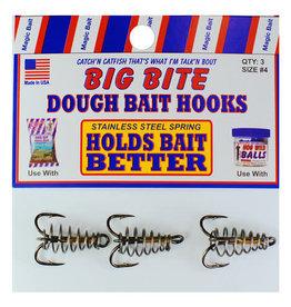 Magic Bait MAGIC BAIT BIG BITE DOUGH BAIT HOOKS - SIZE #4 - 3 PER PACK