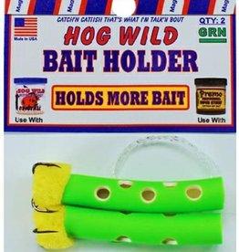 Magic Bait Magic Bait Hog Wild Sponge Tube Bait Holder Size 4 Teble Hooks green