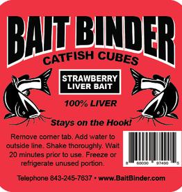 Bait binder Bait Binder Cat Cubes Strawberry liver bait
