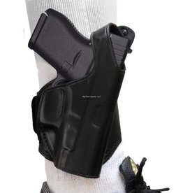 TAGUA GUNLEATHER TAGUA LEATHER ANKLE HOLSTER FOR GLOCK 43 9MM BLACK RIGHT HAND