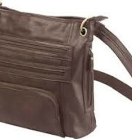 BULLDOG CASES Bulldog Tough Large Cross Body Purse w/ Holster, Chocolate Brown