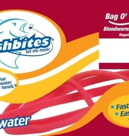 Fishbites Bloodworm Regular Fast Acting Bait Fishbites 0103 Bag O'Worms