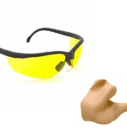 Radians RADIANS SHOOTERS KIT CUSTOM MOLDED EARPLUGS AND SAFETY GLASSES PC SKJRCMP 13804
