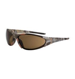 Crossfire Radians Blitz Crossfire Protective Eyewear, Woodland Brown Camo - brown lens