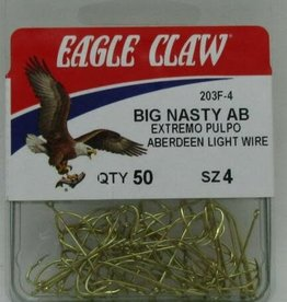 Eagle Claw Eagle Claw 203FH-4 Size 4 Gold Big Nasty Aberdeen Hooks 50CT