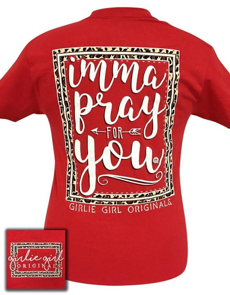 Girlie Girl GIRLIE GIRL, Women's LARGE, PRAY FOR YOU, RED