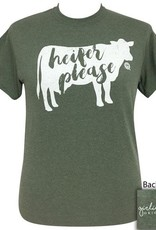 Girlie Girl Girlie Girl Heifer Please Short Sleeve Tshirt Women's XL