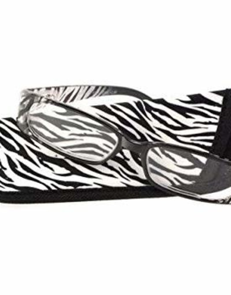 Foster Grant Zola Zebra Women's Rectangular Readers with Soft Case +1.50