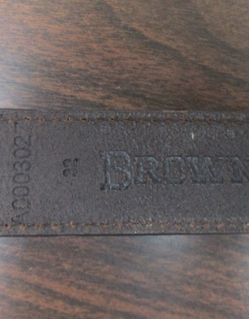 Browning Womens Browning  Belt, Leather, Brown, SZ 32