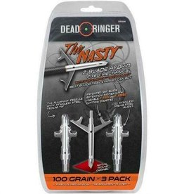 Dead Ringer New Dead Ringer The Nasty Extreme 2 Blade Expandable Broadhead 100 Grain 3 Pack