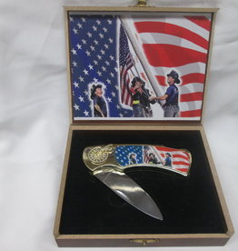 Unbranded 9/11 First Responders Memorial Knife With Case