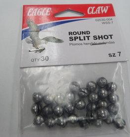 Eagle Claw Eagle Claw Round Split Shot Qty 30, SZ 7
