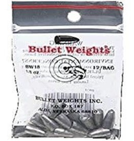 Bullet Weights BULLET WEIGHTS WORM LEADS IN ZIP LOCK BAGS   BW14-NATURAL 1/4 OZ. - 10/BAG