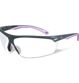 Remington Arms Company LLC Remington RE601 Ladies Shooting Safety Glasses with Clear Lens, Gray/Pink Frame
