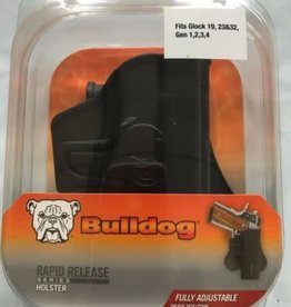 BULLDOG CASES Bulldog Rapid Release Polymer Holster w/ Paddle, Black