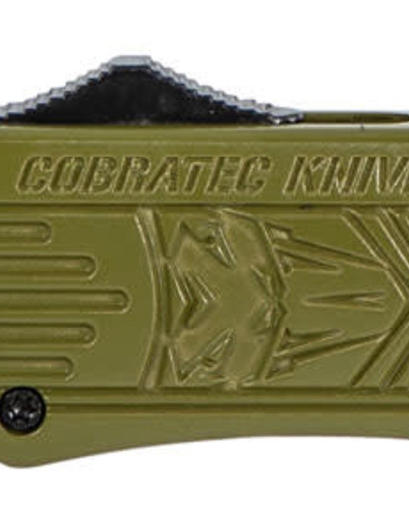 "COBRA TEC KNIVES LLC Medium 3"" 440C Stainless Steel Tanto Black OD Green"