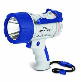Cyclops Cyclops 300 Lumen Rechargeable Waterproof Marine Style Spotlight, White/Blue