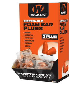 Walker's Walkers GWP-FOAMPLUG200BX Walkers Foam Ear Plugs - 200 Pairs in Box
