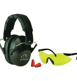 Walker's Walkers Game Ear Pro Low-Profile Folding Muff/Glasses/Plugs Combo