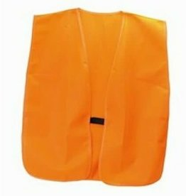 HME GSM HME-VEST-OR Men's Blaze Orange Polyester Safety Hunting Vest - Size OSFM