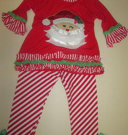 Unbranded Girls 18-24 Months Boutique Christmas Outfit Ruffle/Santa