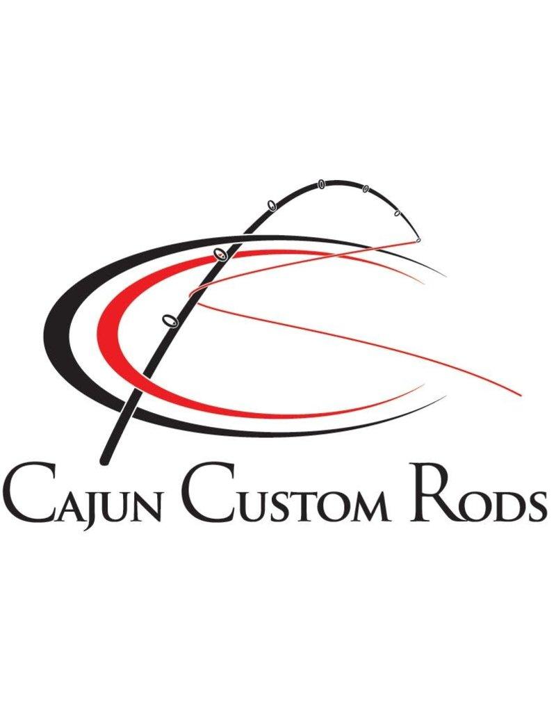 Cajun White Cajun Custom Rods Decal,6x6