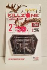 NEW ARCHERY PRODUCTS NWA KILLZONE 100GR 3PK 60-997