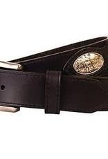 Browning Browning Men's Belt sz34 black, silver deer emblems