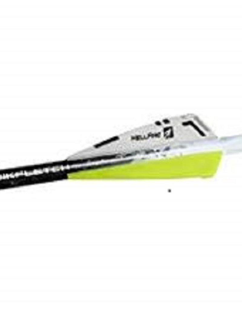 NEW ARCHERY PRODUCTS NAP NAP Quikfletch 3in Hellfire Xbow - 6Pack White/Yellow/Yellow 60-011