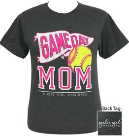 Girlie Girl Girlie Girl Preppy Softball Game Day Mom Medium Tee