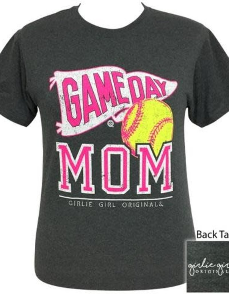Girlie Girl Girlie Girl Preppy Softball Game Day Mom Small Tee