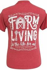 Girlie Girl Girlie Girl Farm Living , Short Sleeve,XLarge
