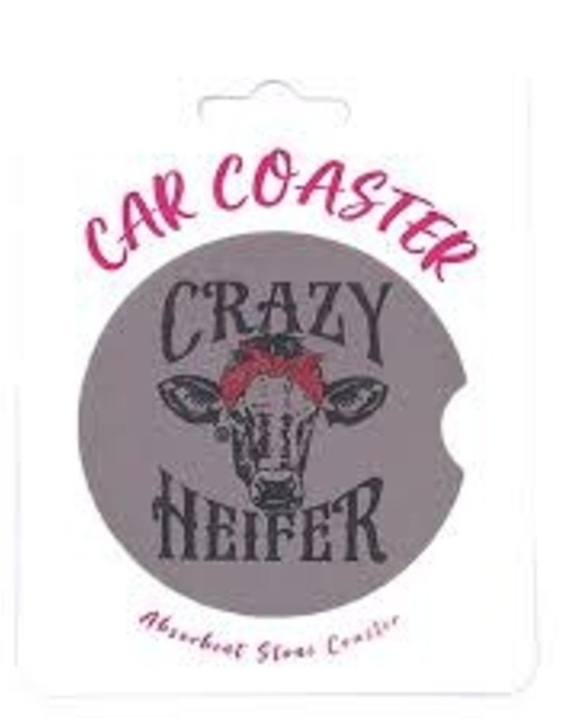 Girlie Girl Car Coaster Crazy Heifer