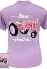 Girlie Girl Girlie Girl Preppy Born Southern Tractor SMALL  Tee