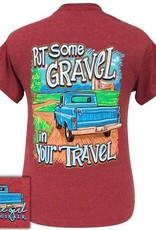 Girlie Girl Girlie Girl Preppy Put Gravel In Your Travel Truck Med Tee