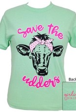 Girlie Girl Girlie Girl Save The Udders Cow 2XL Tee