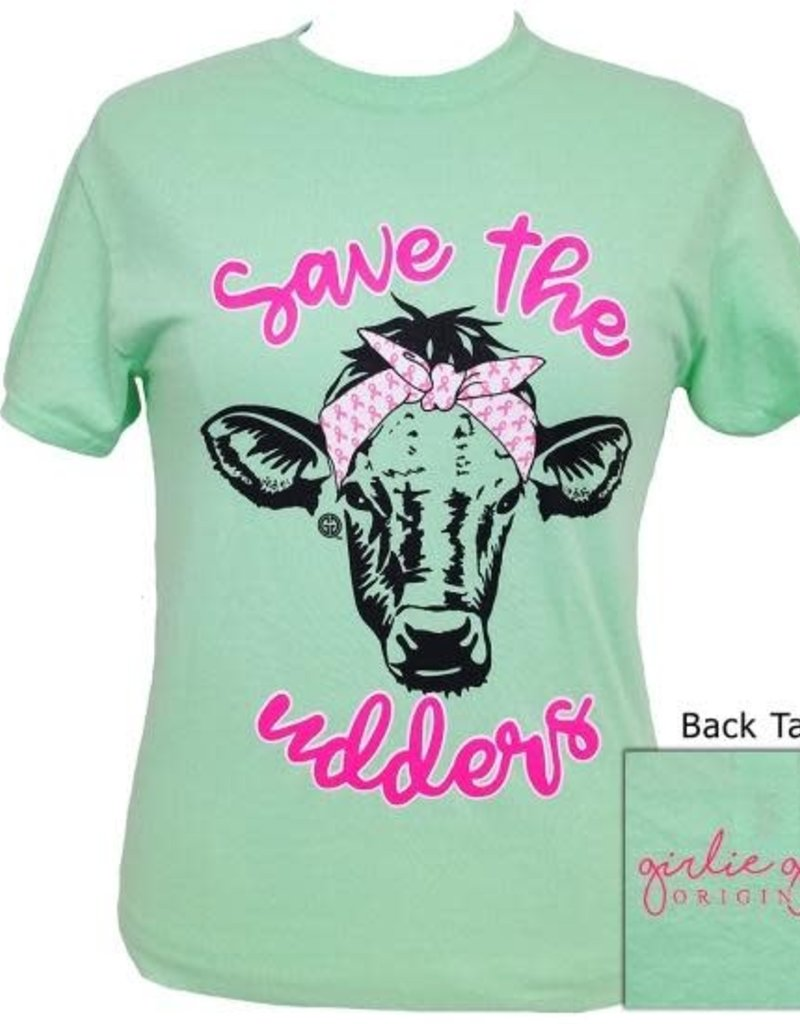 Girlie Girl Girlie Girl Save The Udders Cow XL Tee