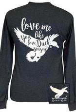 Girlie Girl Duck Season,Long Sleeve,Large