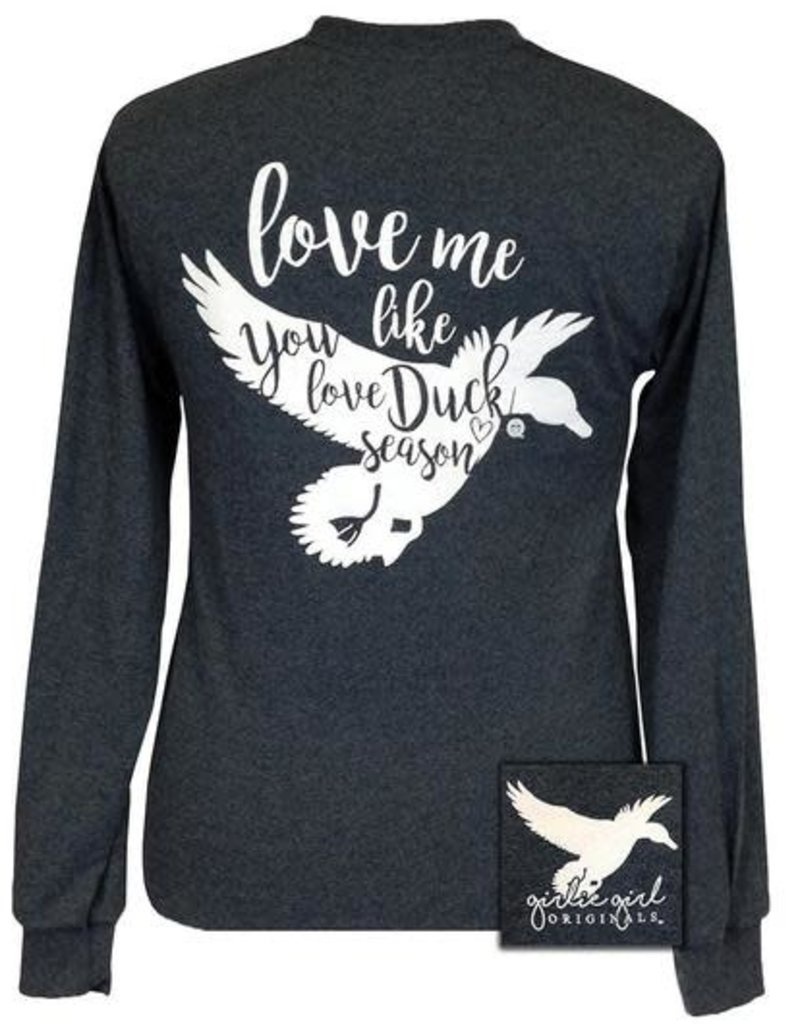 Girlie Girl Duck Season,Long Sleeve,Medium