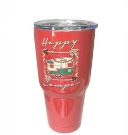 Girlie Girl Happy Camper Stainless Steel Tumbler