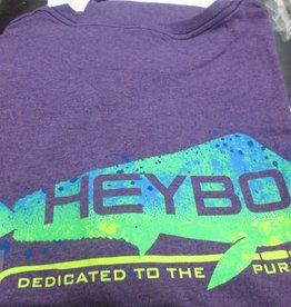 Heybo Outdoors Heybo Purple Heather Gaffer S/S  Hey1295- 2XL