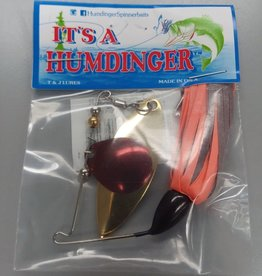 T&J Lures Humdinger Colorado Willow Spinnerbait Red White Pink 1/4 oz 103-T