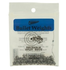 Bullet Weights Bullet Weights Split-Shot Sz3/0 Ziplock 40Bg  SSR30 Reuse