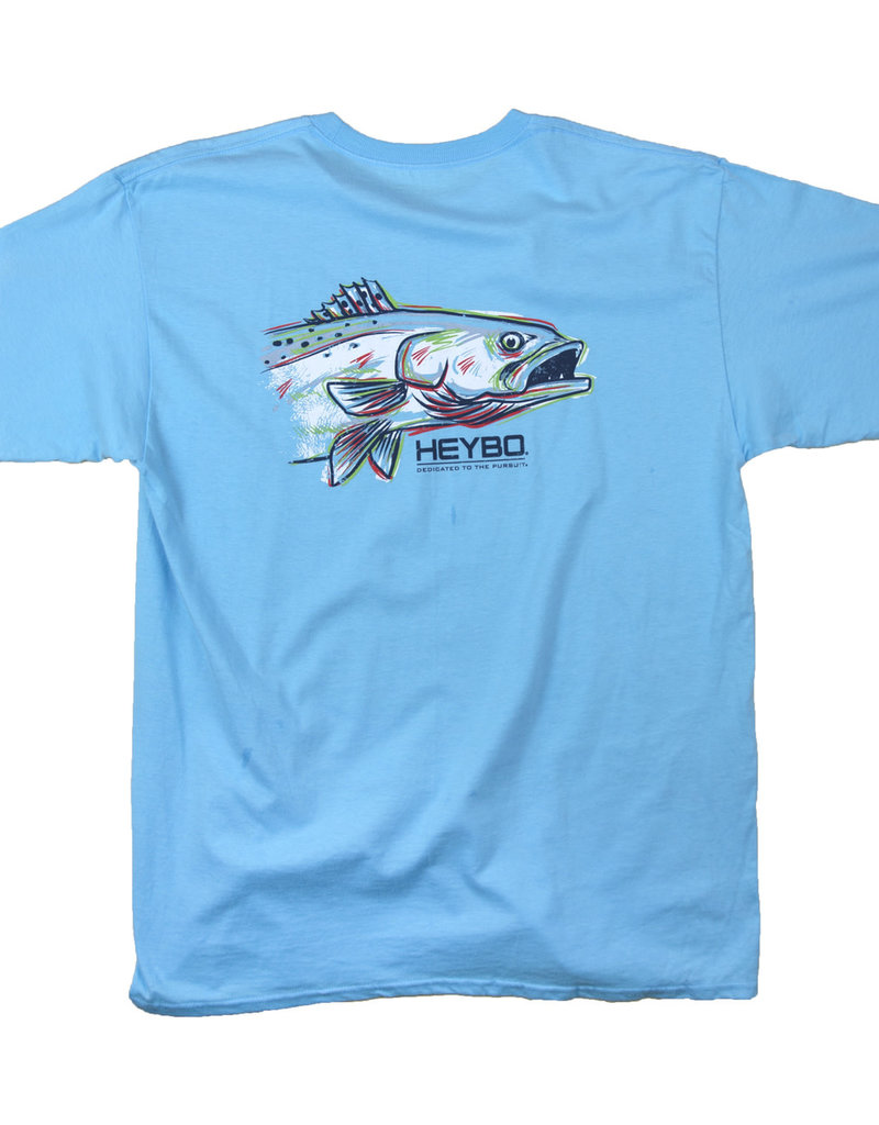 Heybo Painted Sea Trout,Youth Large,SS